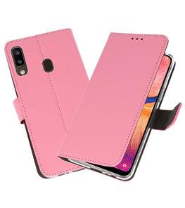 Wallet Cases Hoesje voor Samsung Galaxy A20 Roze
