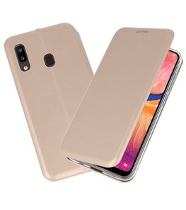 Slim Folio Case voor Samsung Galaxy A20 Goud