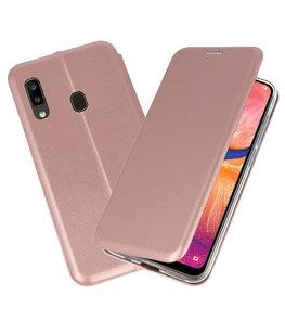 Slim Folio Case voor Samsung Galaxy A20 Roze