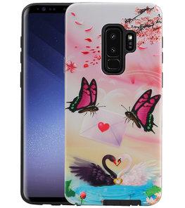 Vlinder Design Hardcase Backcover voor Samsung Galaxy S9 Plus