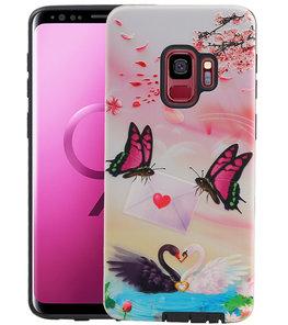 Vlinder Design Hardcase Backcover voor Samsung Galaxy S9