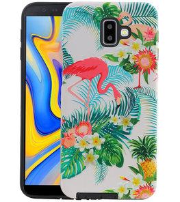 Flamingo Design Hardcase Backcover voor Samsung Galaxy J6 Plus