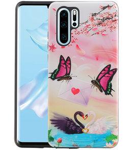 Vlinder Design Hardcase Backcover voor Huawei P30 Pro