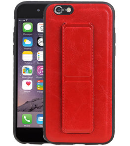 Grip Stand Hardcase Backcover voor iPhone 6 Rood