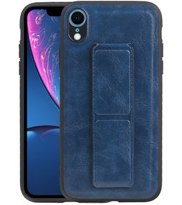 Grip Stand Hardcase Backcover voor iPhone XR Blauw