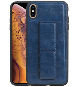 Grip Stand Hardcase Backcover voor iPhone XS Max Blauw