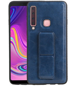 Grip Stand Hardcase Backcover voor Samsung Galaxy A9 (2018) Blauw