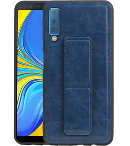 Grip Stand Hardcase Backcover voor Samsung Galaxy A7 (2018) Blauw