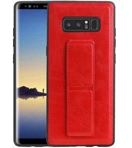 Grip Stand Hardcase Backcover voor Samsung Galaxy Note 8 Rood