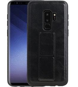 Grip Stand Hardcase Backcover voor Samsung Galaxy S9 Plus Zwart