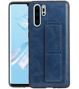 Grip Stand Hardcase Backcover voor Huawei P30 Pro Blauw