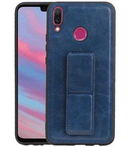 Grip Stand Hardcase Backcover voor Huawei Y9 (2019) Blauw