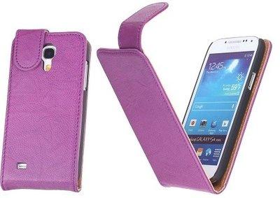 BestCases Luxe Kreukelleer Flipcase Hoesje voor Samsung Galaxy S4 Paars