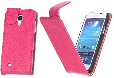 BestCases Luxe Kreukelleer Flipcase Hoesje voor Samsung Galaxy S4 Roze