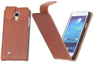 BestCases Luxe Kreukelleer Flipcase Hoesje voor Samsung Galaxy S4 Bruin