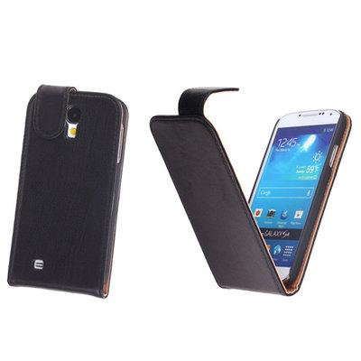 BestCases Luxe Kreukelleer Flipcase Hoesje voor Samsung Galaxy S4 Zwart