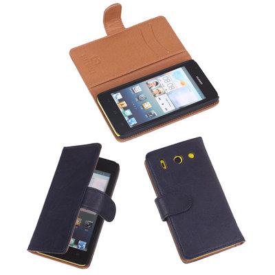 BestCases Navy Luxe Echt Lederen Booktype Hoesje Huawei Ascend G510
