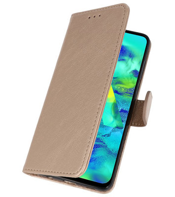 Bookstyle Wallet Cases Hoes voor iPhone 11 Goud