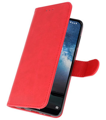 Bookstyle Wallet Cases Hoes voor Samsung Galaxy Note 10 Rood