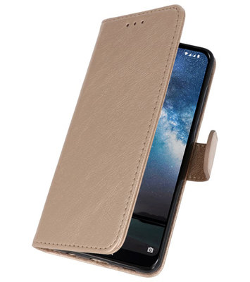Bookstyle Wallet Cases Hoes voor Samsung Galaxy Note 10 Goud