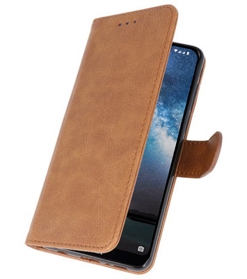 Bookstyle Wallet Cases Hoes voor Samsung Galaxy Note 10 Bruin