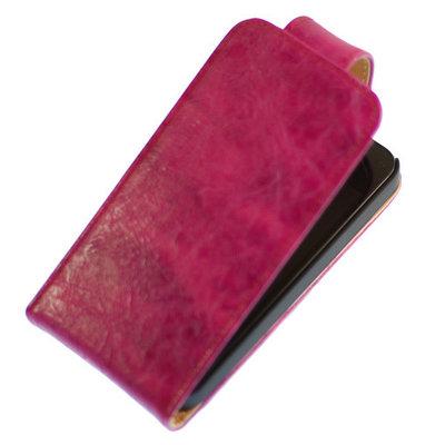 Eco-Leather Flipcase Hoesje Samsung Galaxy S4 Mini i9190 Pink