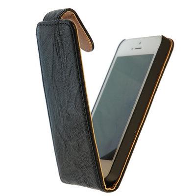 BestCases Zwart Kreukelleer Flipcase Hoesje voor HTC Desire 500