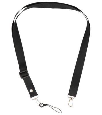 Schouder / Nek Touwtjes voor Hoesjes of Badge Zwart