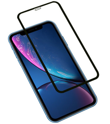 Zwart iPhone XR Tempered Glass Screen Protector