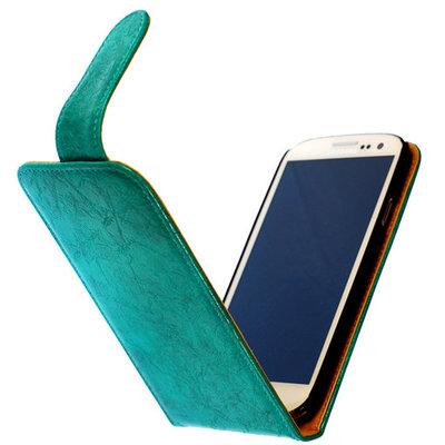 Bestcases Vintage Turquoise Flipcase Hoesje voor Nokia Lumia 625