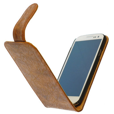 Bestcases Vintage Bruin Flipcase Hoesje voor Nokia Lumia 625