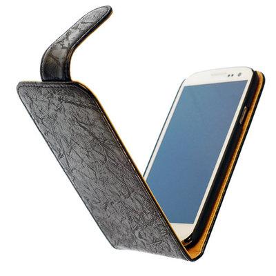Bestcases Vintage Zwart Flipcase Hoesje voor Nokia Lumia 625