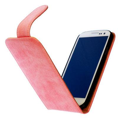 Bestcases Vintage Light Pink Flipcase Hoesje voor LG Optimus L5 2 E460