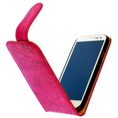 Bestcases Vintage Pink Flipcase Hoesje voor LG Optimus L5 2 E460