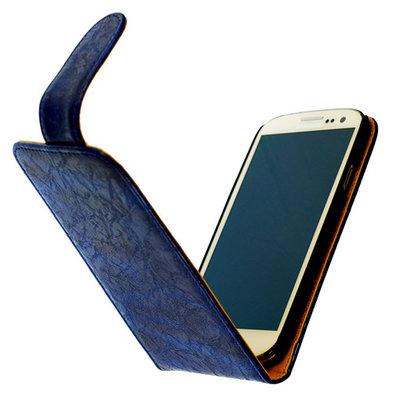 Bestcases Vintage Blauw Flipcase Hoesje voor LG Optimus L5 2 E460