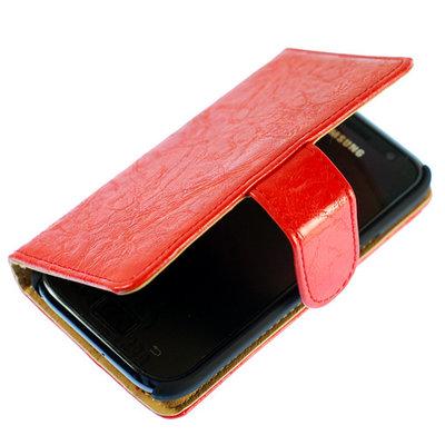 Bestcases Vintage Oranje Book Cover Hoesje voor LG Optimus L5 2 E460