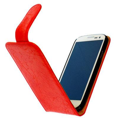 Bestcases Vintage Oranje Flipcase Hoesje voor Samsung Galaxy S2 Plus i9100