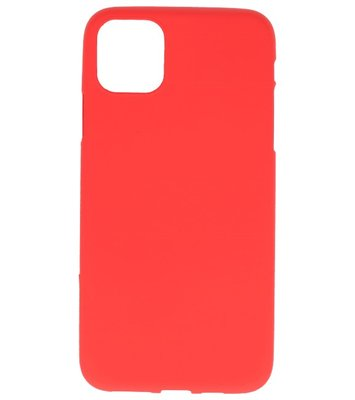 Color Backcover voor iPhone 11 Rood