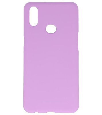 Color Backcover voor Samsung Galaxy A10s Paars