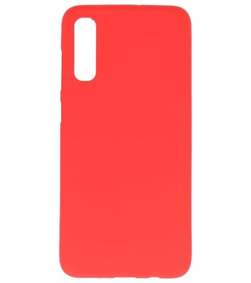 Color Backcover voor Samsung Galaxy A70s Rood