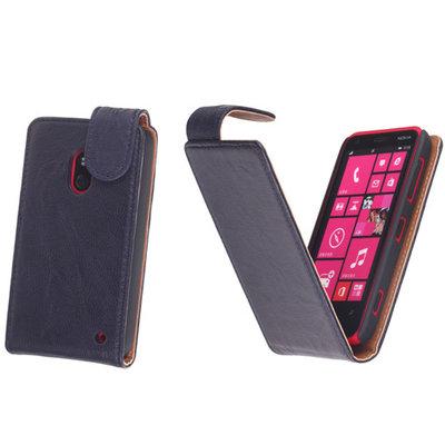 BestCases Navy Blue Kreukelleer Flipcase Hoesje voor Nokia Lumia 620