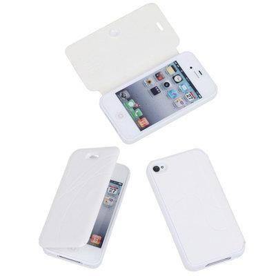 Bestcases Wit TPU Booktype Motief Hoesje voor Apple iPhone 4 4s