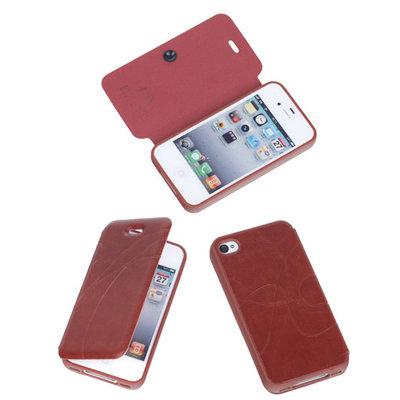 Bestcases Bruin TPU Booktype Motief Hoesje Apple iPhone 4 4s