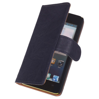 Blue Lederen Booktype Samsung Galaxy S5 (Plus)