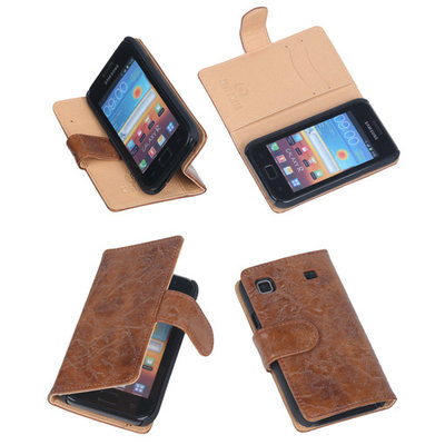 Bestcases Vintage Bruin Book Cover Samsung Galaxy S Plus