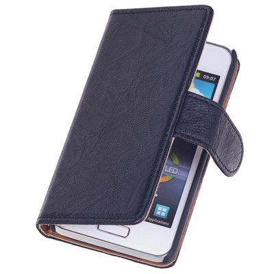 BestCases Zwart Echt Leer Booktype Hoesje voor Samsung Galaxy S Advance i9070