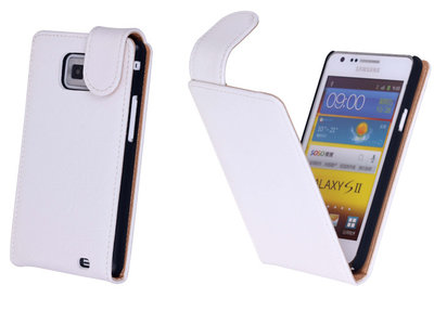 Bestcases Vintage Creme Flipcase Hoesje voor Samsung Galaxy S2 Plus i9100