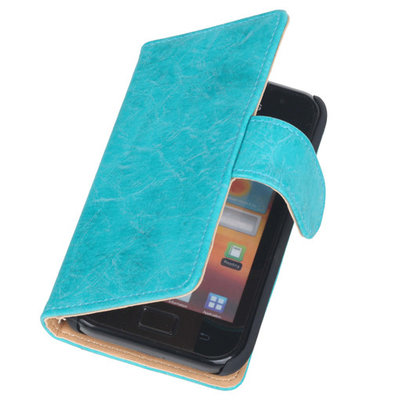 Bestcases Vintage Turquoise Book Cover Hoesje voor Samsung Galaxy Core i8260