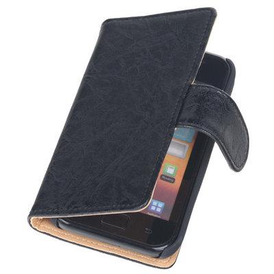 Bestcases Vintage Zwart Book Cover Hoesje voor Samsung Galaxy Core i8260