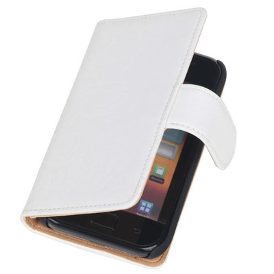 Bestcases Vintage Creme Book Cover Hoesje voor LG Optimus L5 2 E460